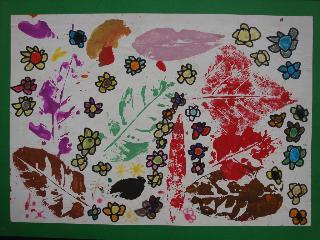 拓印画-美丽的花园-6岁