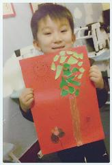 5岁 大佑《大树与花》